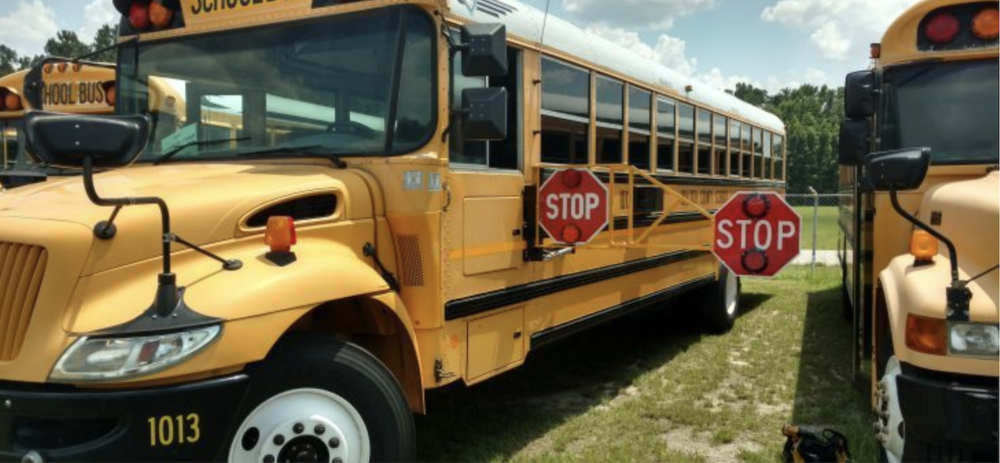 THE NEW SAFETY ADDITION TO SOME MAINE SCHOOL BUSES