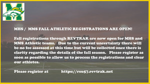 MHS / MMS Fall Athletic Registration