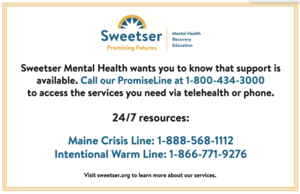 SWEETSER MENTAL HEALTH SERVICES