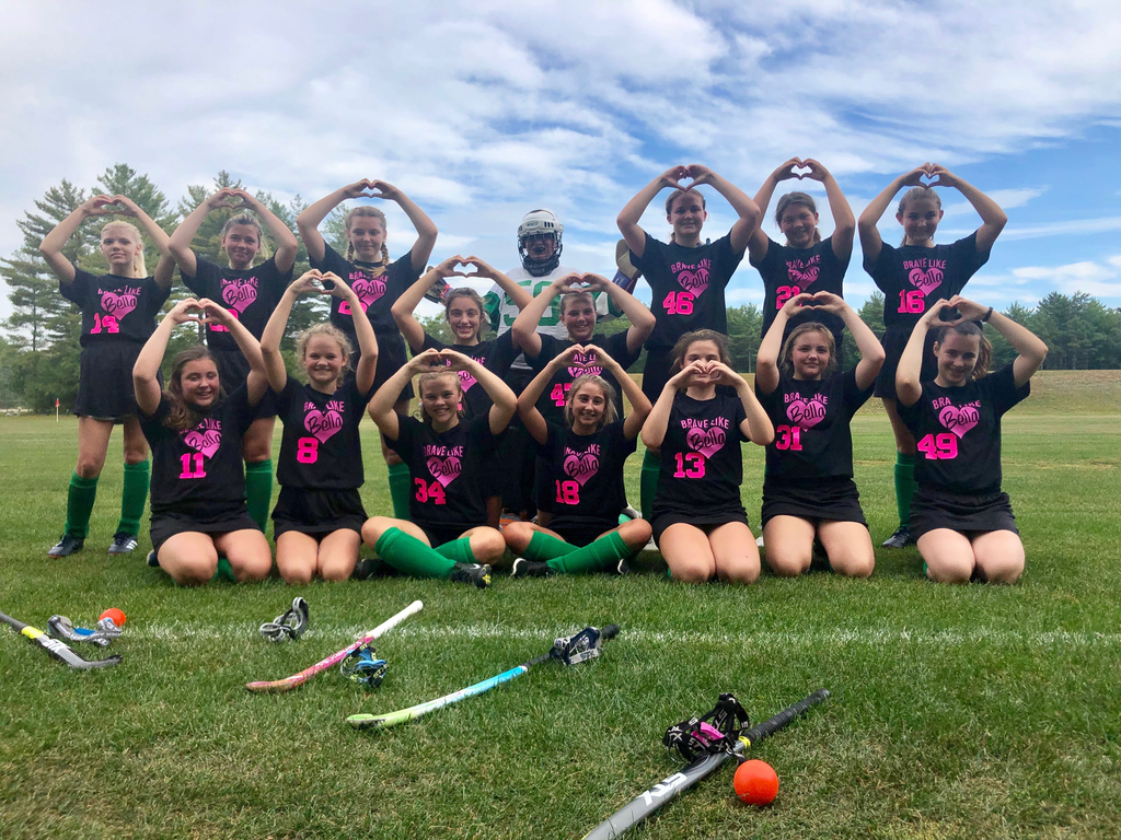 MMS Field Hockey players supporting our friend this afternoon. #bravelikebella #gomustangs