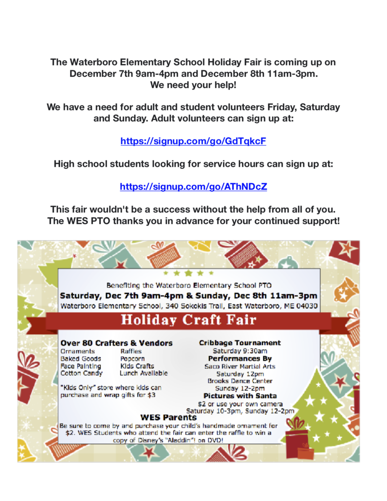 Holiday Fair Flyer