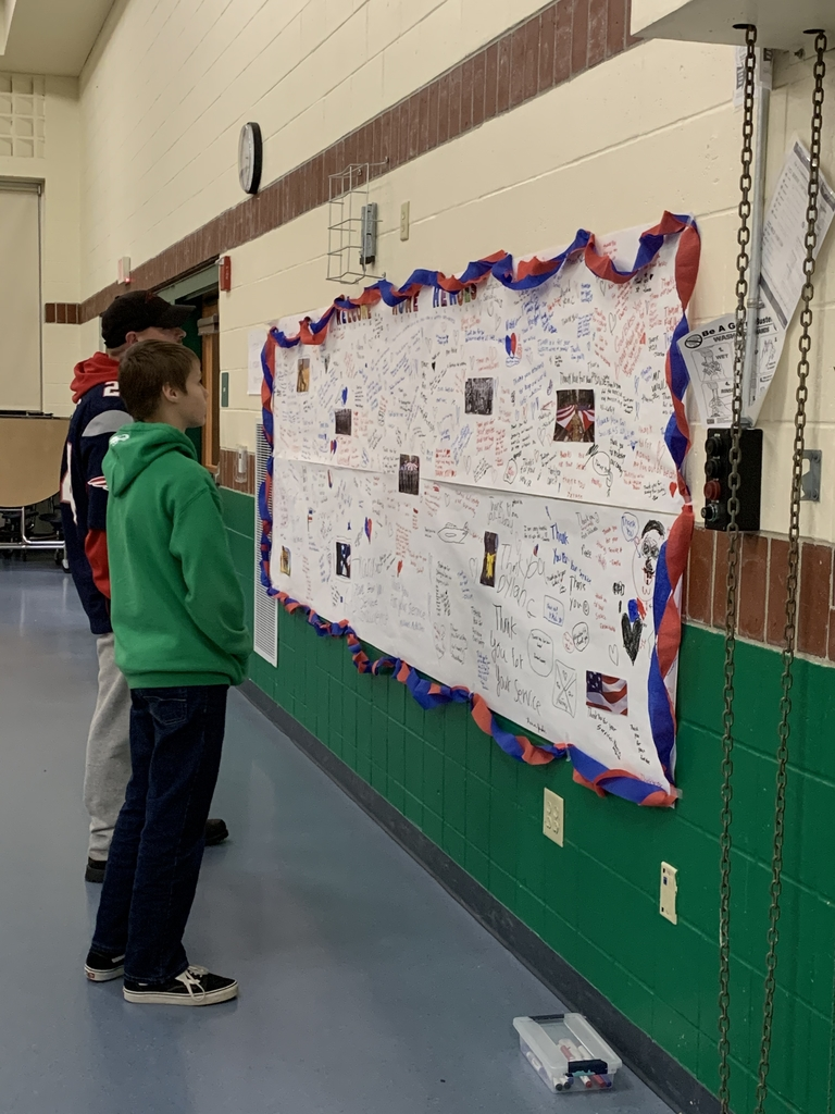 Thank you wall created by MMS students