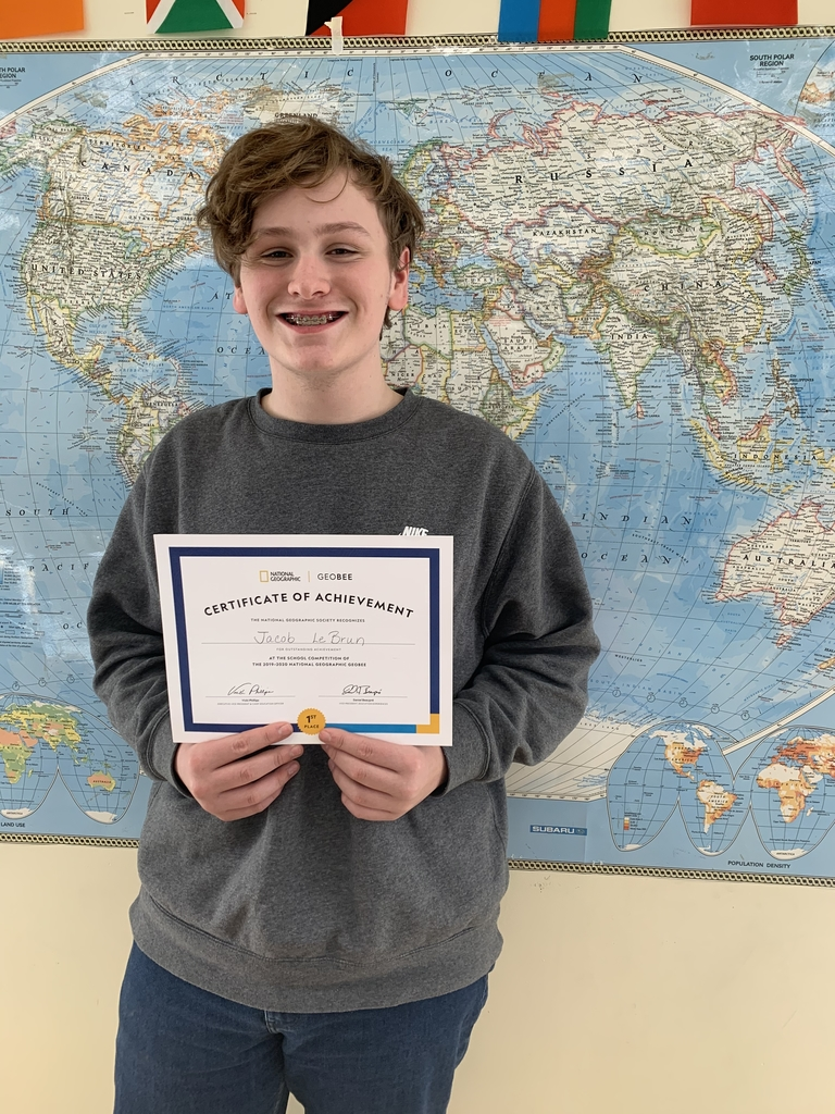 Jacob LeBrun, GeoBee winner