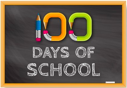 100 Days of School graphic