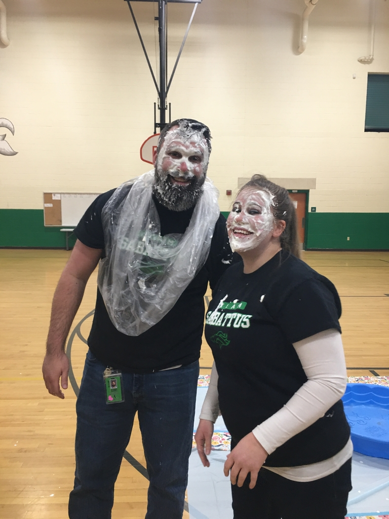 Mr. and Mrs. Magill after being pie the face