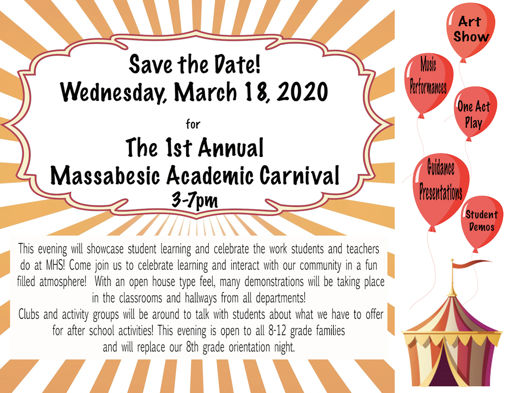 Invitation to MHS academic carnival