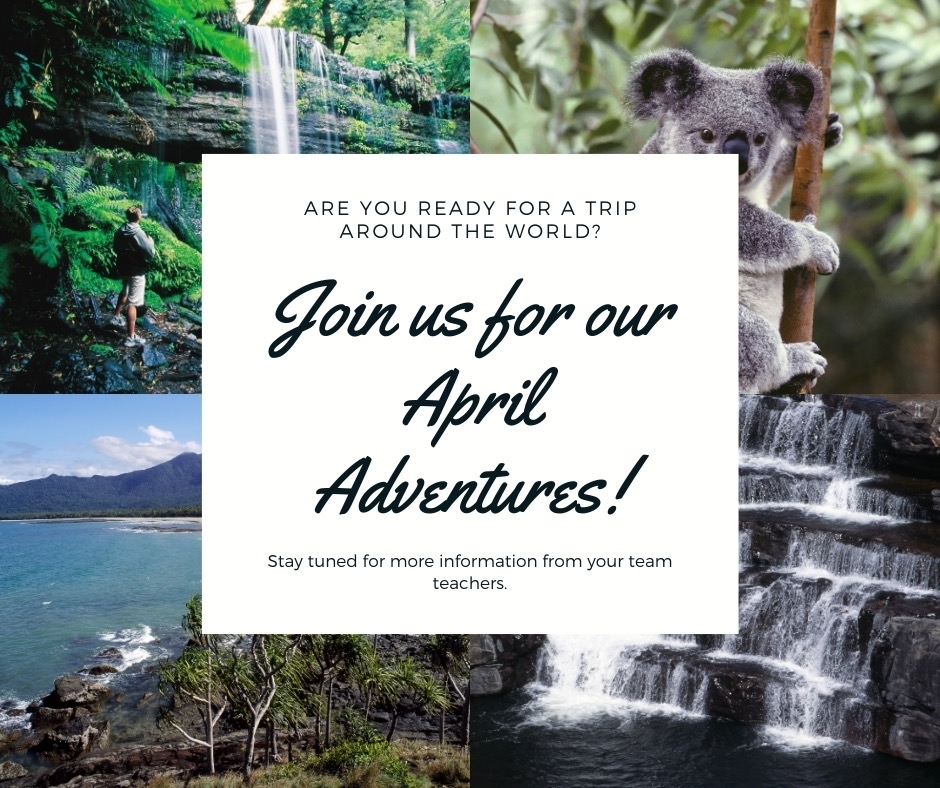 Invitation to MMS April Adventures